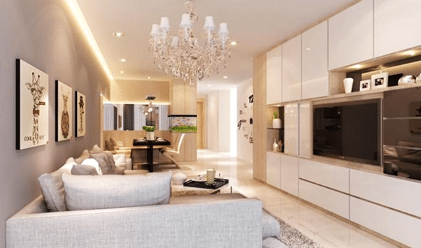 Designer tips Create zones in a large room (1)