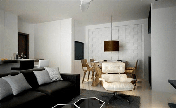 Designer tips Create zones in a large room (2)