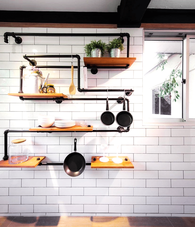 Kitchen Diaries Functional and Edgy Shelves (1)