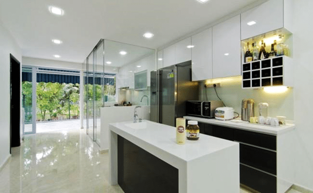 What are the types of solid surface counters