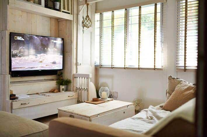 Country Interior Design Furnished With Recycled Material