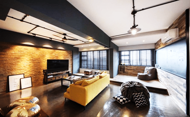 & Trendy studio style apartment designs (4) - Home Renovation Singapore