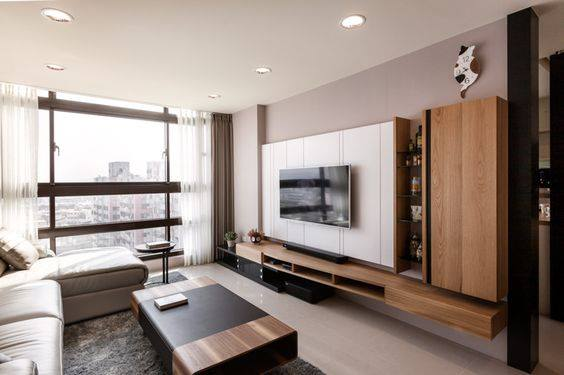 Elegantly Clean Cut Tv Feature Wall