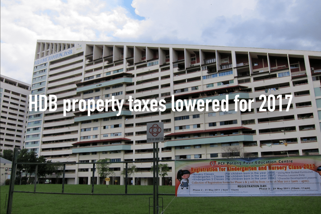 HDB property taxes lowered for 2017 (3)