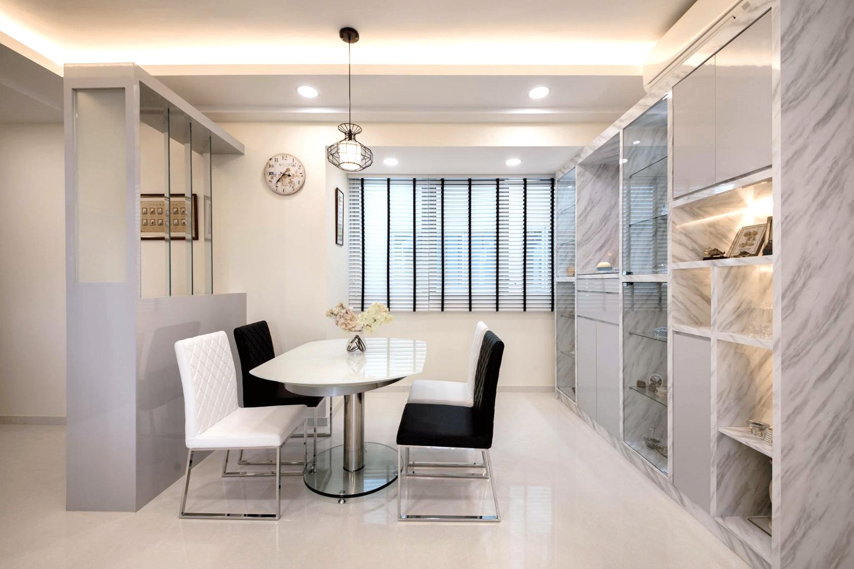 Home room interior design and custom carpentry singapore Clean modern interior design
