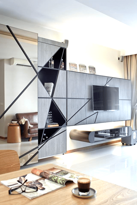 7 Media Wall Feature to Emulate the Contemporary! (1)