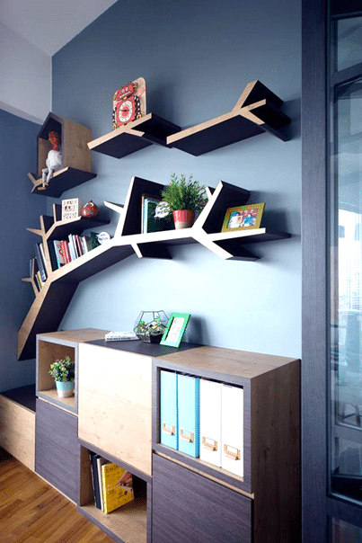 Instead, Ask The Designer To Create Something Out Of The Box, Like The Tree  Branch Style Book Shelf That Is Shown In The Image Below. Interior Design,  Home ...