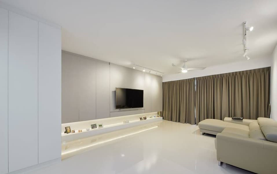 Home room interior design and custom carpentry singapore Sleek homes that are unapologetically modern