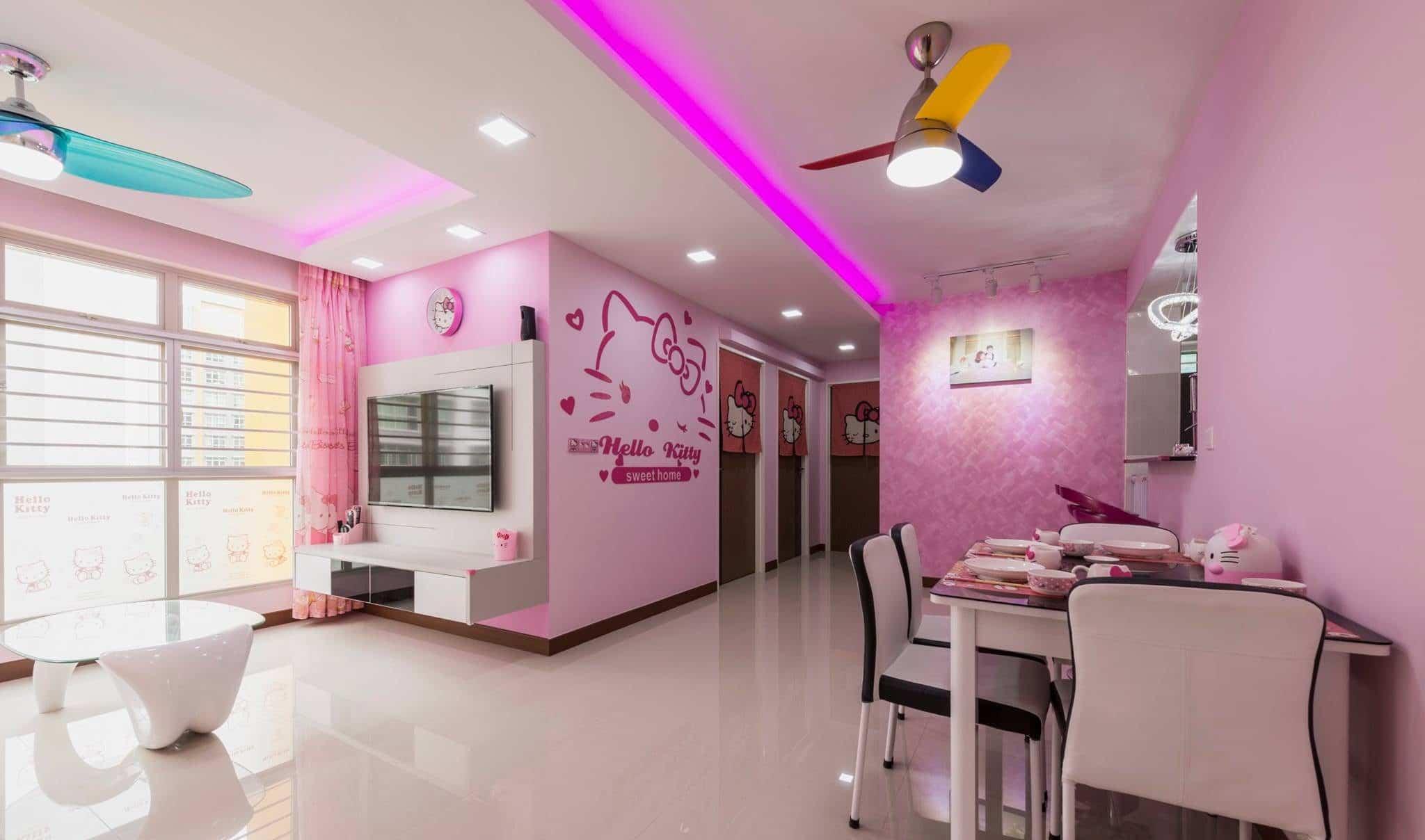 Modern Hello Kitty Theme Interior Design Fifth Avenue