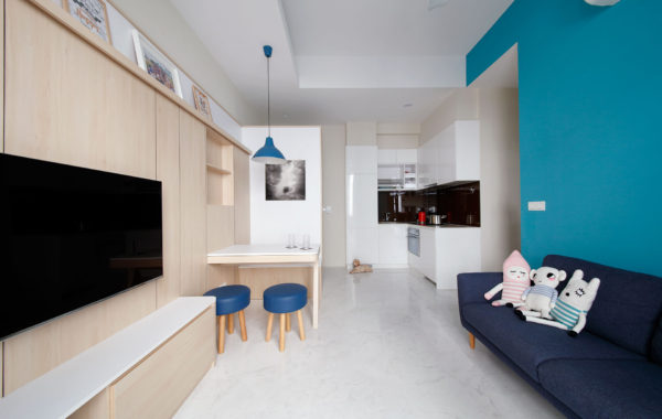 Scandinavian Design With A Touch Of Blue
