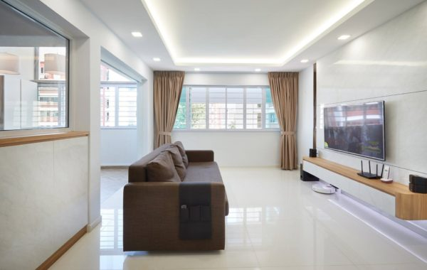 Brown Accented Sofa Interior