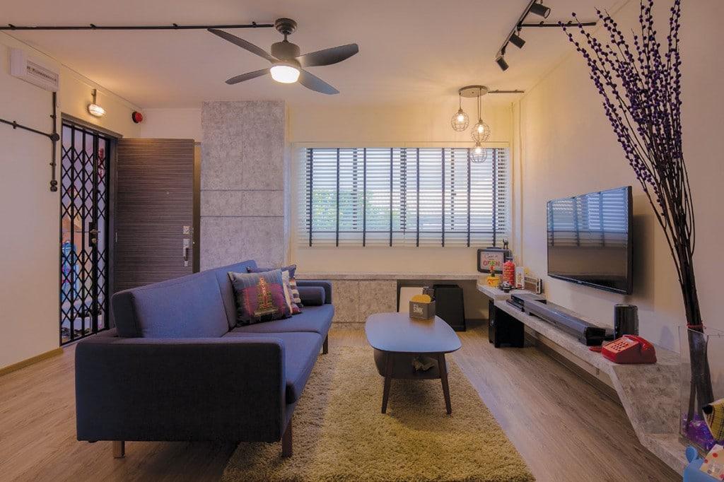 Home room interior design and custom carpentry singapore for Living room interior design singapore