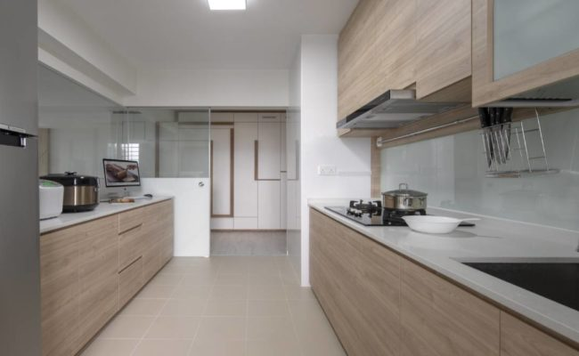 Clean lines and wood accents1