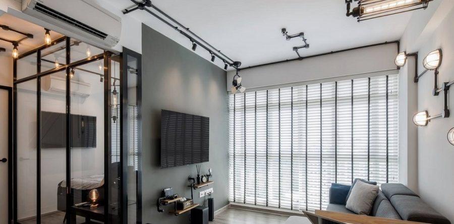 Industrial Interior Design In Black & White