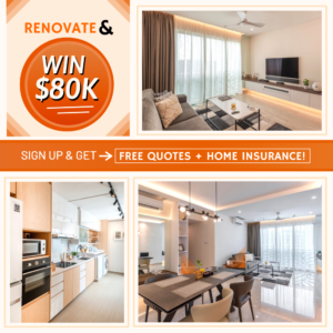 No.1 home renovation Singapore website that offers databases of renovation contractor and interior designer in singapore to homeowners. Singapore's best of home interior design in singapore and renovation.