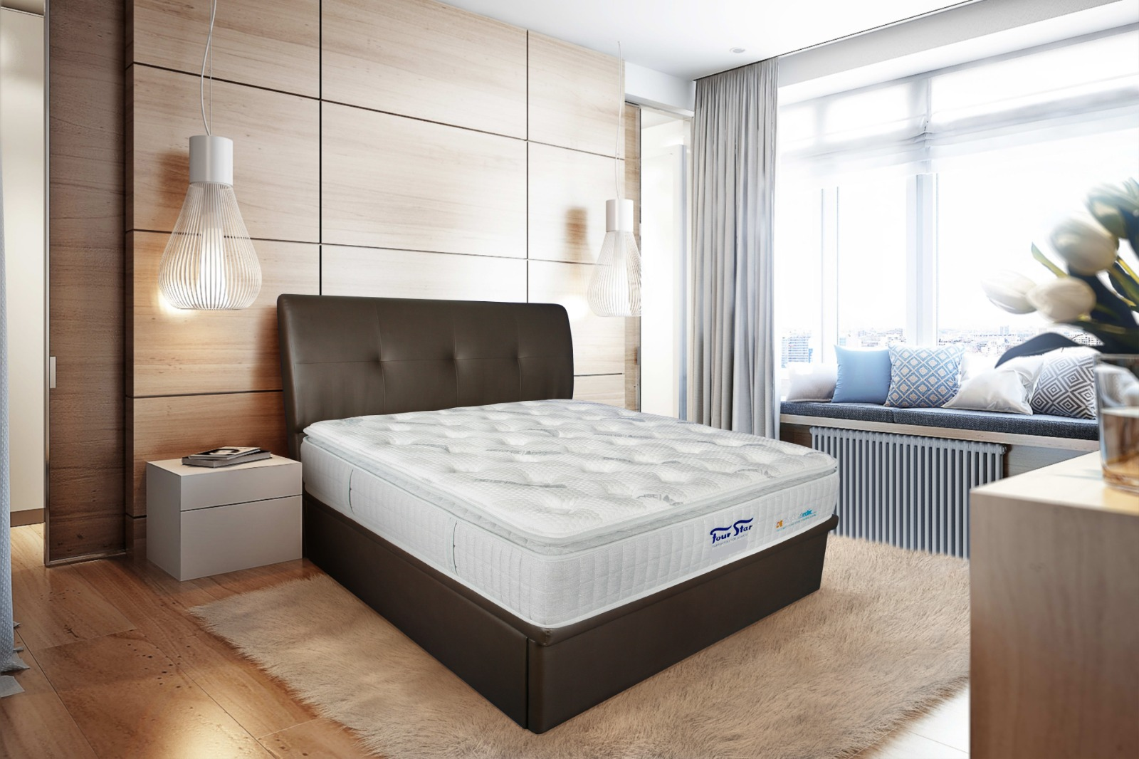 Introducing the revolutionary DETENSE | ArcticSilk™ series of mattresses by Four Star