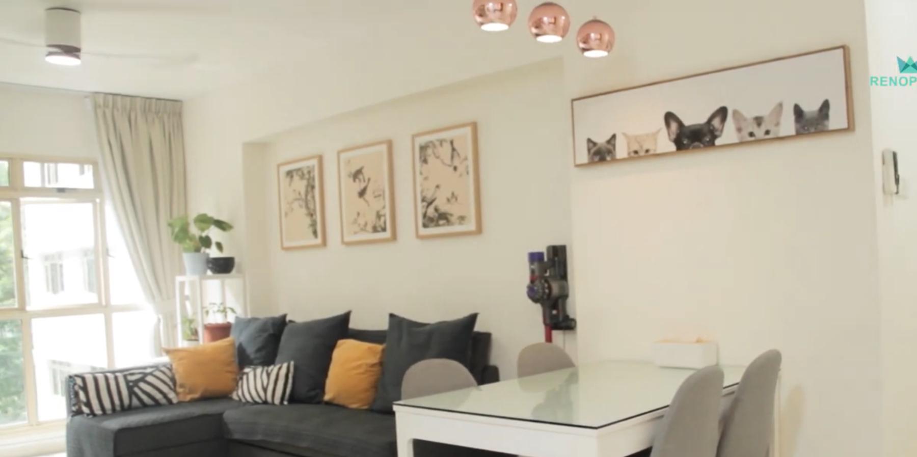 Interior Design Singapore | A homely design by Hepta Design