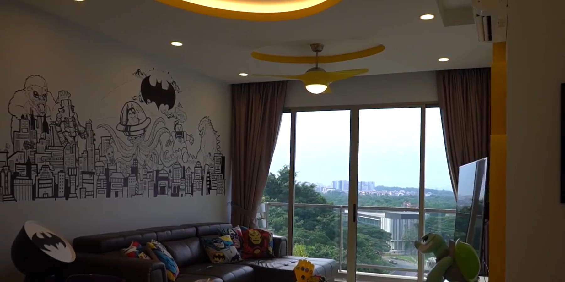 Interior Design Singapore | Mural and Grafitti Art Home (Free Space Intent)