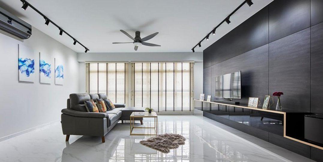Lustrous and Contemporary Spacious Interior Design