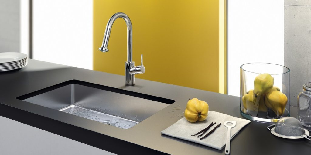 A pop of colour will make your kitchen look less dreary and tired.