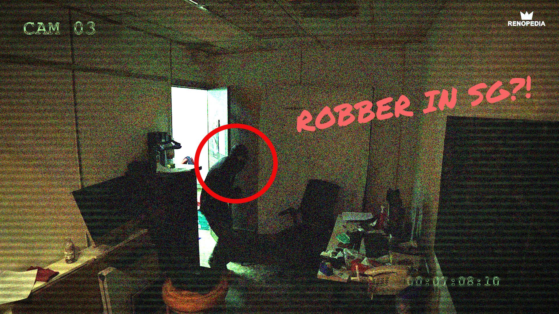 Robber In Singapore Caught On Tape!