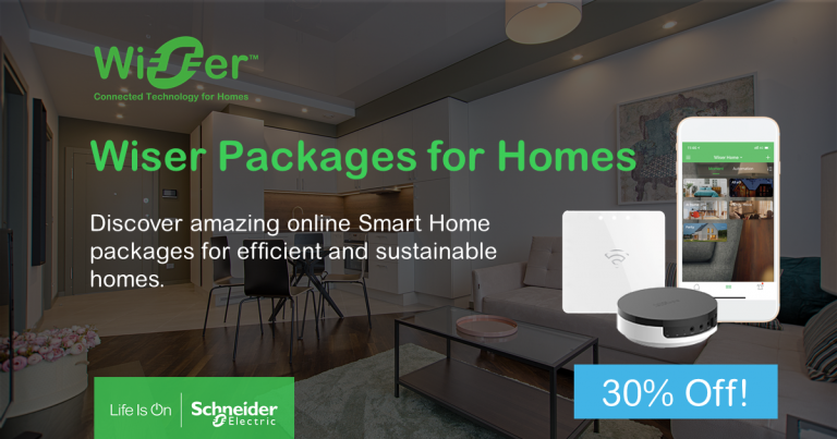 Limited-time PROMO till 30th July: 30% Off Wiser Smart Home Packages!