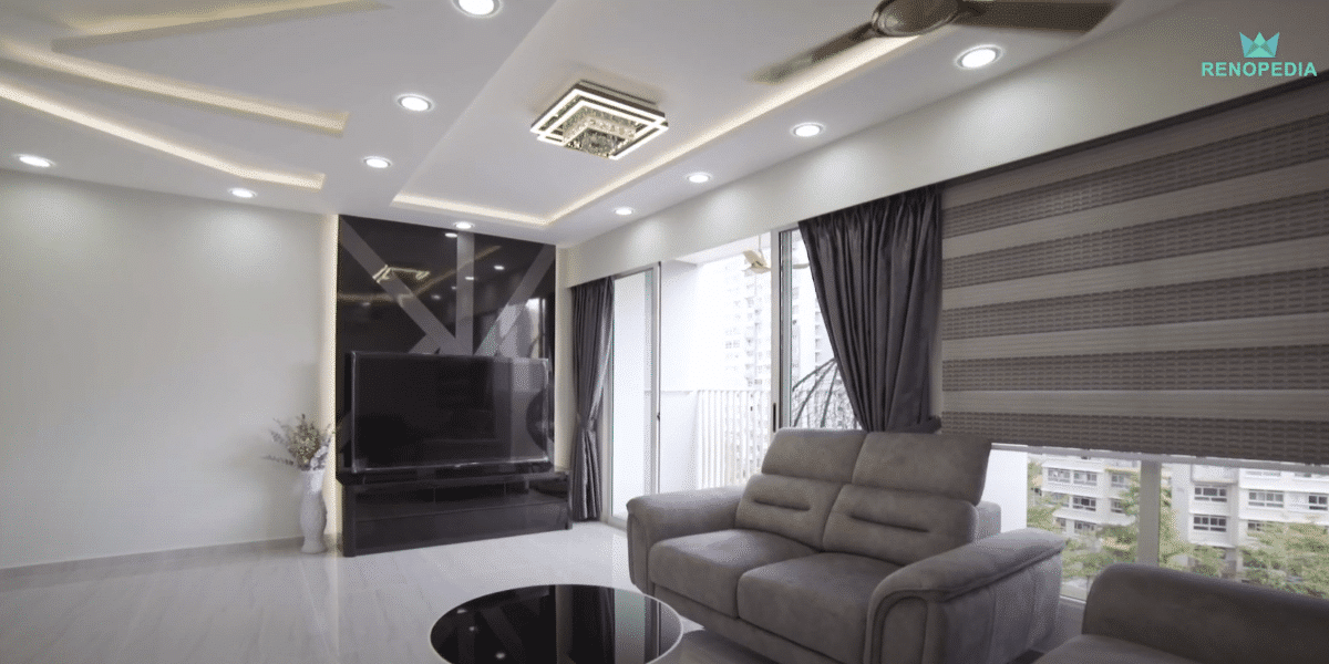 Modern LED Light Home Tour In Punggol   Interior Design Singapore