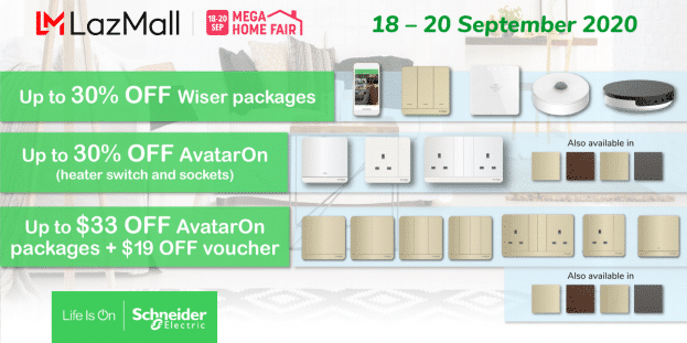 Schneider Electric MEGA Smart Home Deals at Lazada Mega Home Fair!