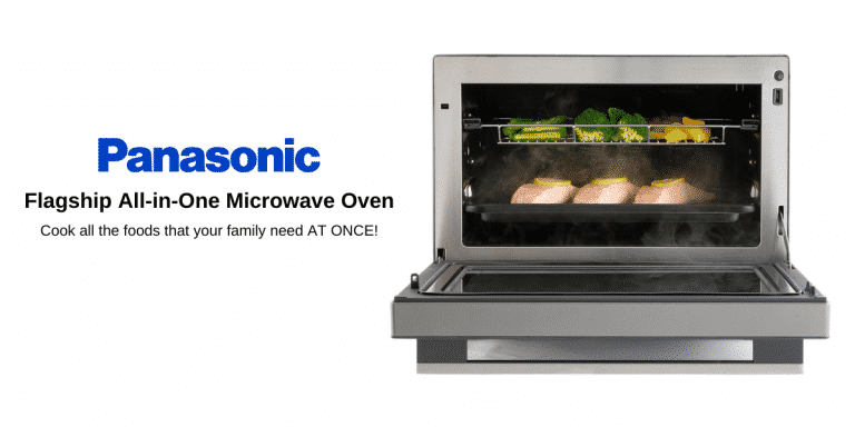 Cook All The Foods That Your Family Need AT ONCE With Panasonic's Flagship All-in-One Microwave Oven!